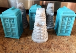 Dr. Who Tardis and Daleks Guest Soap Set