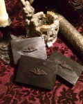 Grimoire Black Bar Bat Crest Soap